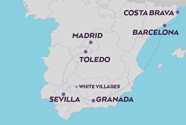 the soul of Spain map