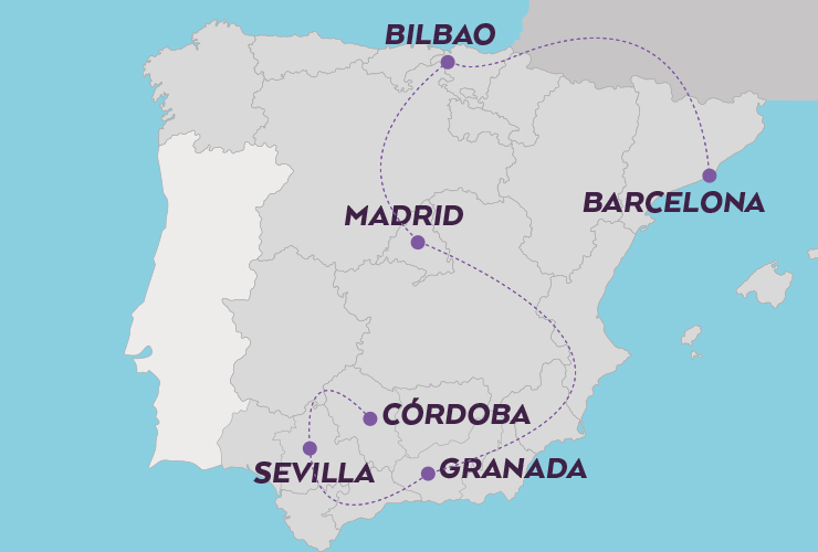 IMMERSIVE SPAIN Map