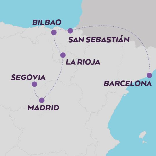 Viaje Gastronómico en Espña